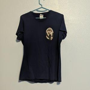 Blue t-shirt with hedgehog in pocket
